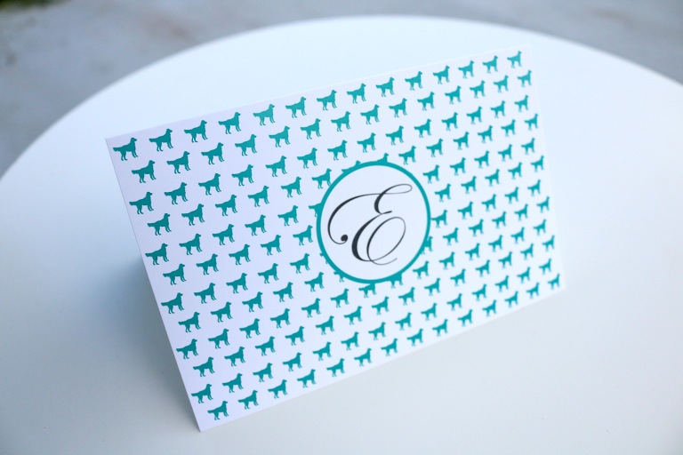 custom pet stationery notecard